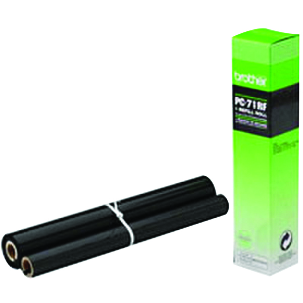 Brother Thermal Transfer Black Ribbon Ink Film PC71RF