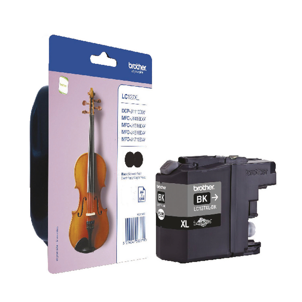 Brother LC-127XL Black High Yield Ink Cartridge (Pac of 2) LC127XLBKBP2