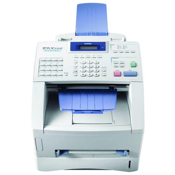 Brother FAX-8360 High-Speed High-Volume Laser Fax Machine White FAX8360PU1