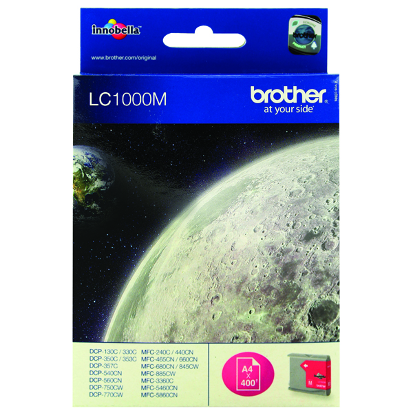 Brother Magenta Inkjet Cartridge LC1000M