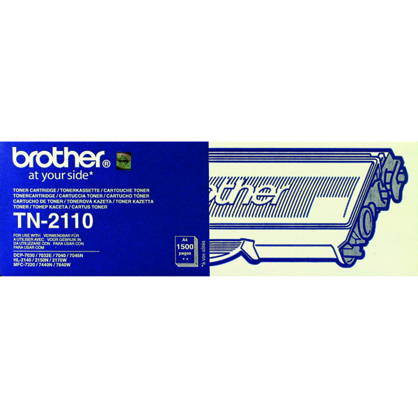 Brother TN-2110 Laser Toner Cartridge Black (Pack of 1) TN2110