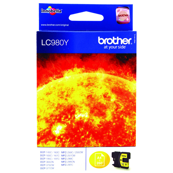 Brother Yellow LC980Y Inkjet Cartridge