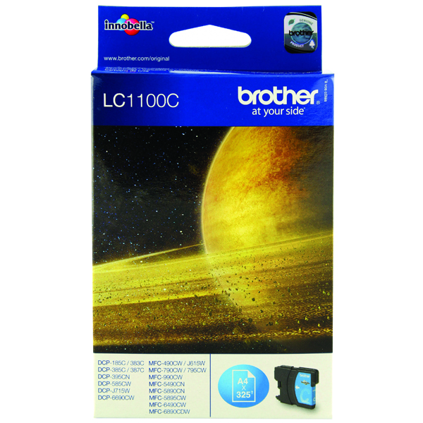 Brother Cyan Inkjet Cartridge LC1100C