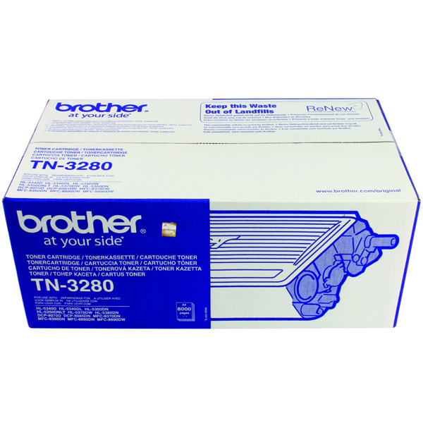 Brother HL-5340D Laser Toner Cartridge High Yield Black (Pack of 1) TN3280
