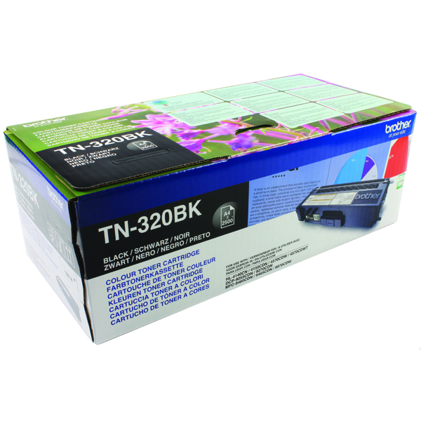 Brother Black Laser Toner Cartridge TN320BK