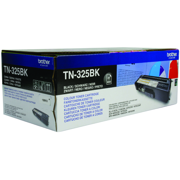Brother TN325BK Black Toner Cartridge High Capacity TN-325BK