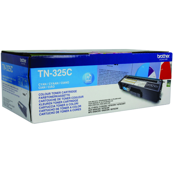 Brother TN325C Cyan Toner Cartridge High Capacity TN-325C