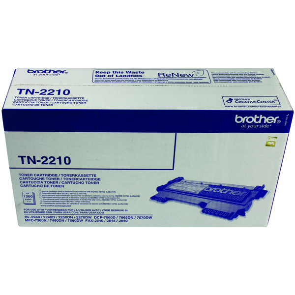 Brother TN-2210 Laser Black Toner Cartridge TN2210