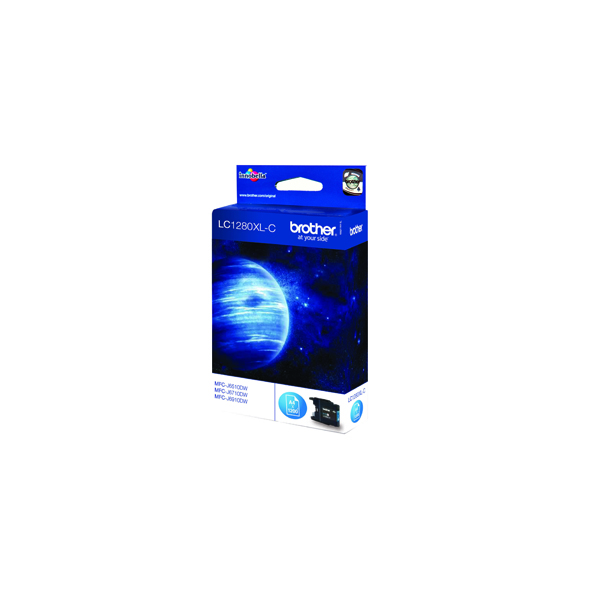 Brother Cyan High Yield Inkjet Cartridge LC1280XLC