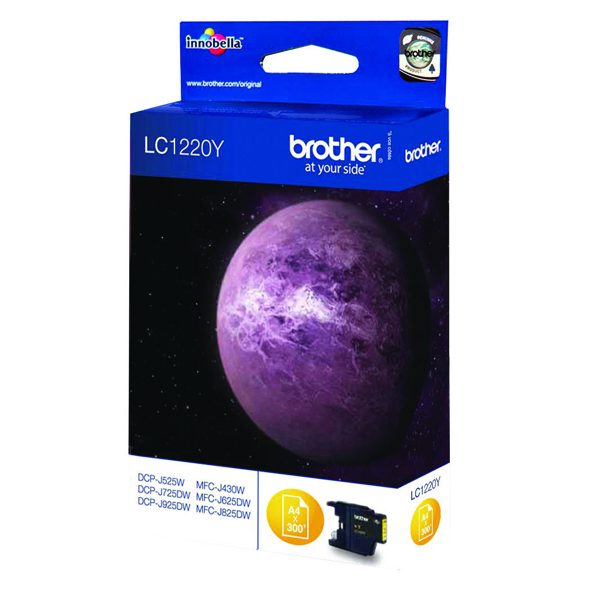 Brother LC1220Y Yellow Inkjet Cartridge