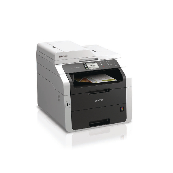 Brother MFC-9340CDW Colour Laser All-in-One Printer with Fax Duplex Network Wireless White (Pack of 1) MFC9340CDW