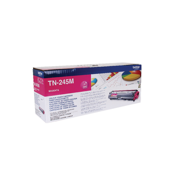 Brother TN-245M Magenta High Yield Laser Toner Cartridge TN245M