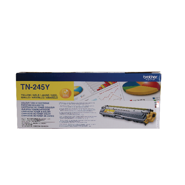 Brother TN-245Y Yellow High Yield Laser Toner Cartridge TN245Y