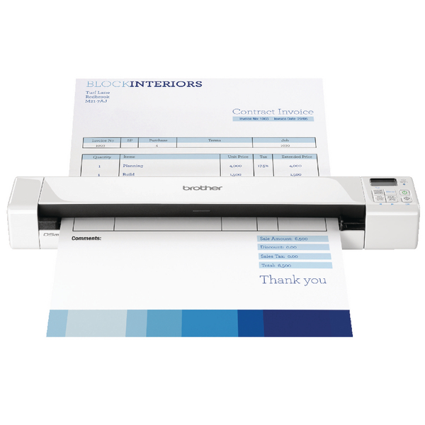 Image for Brother DS-820W Portable Document Scanner Wireless White DS820WZ1
