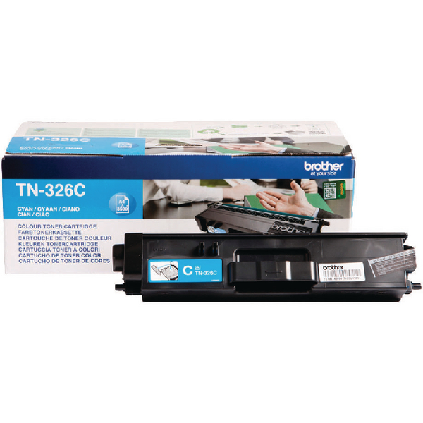 Brother TN326C Cyan High Yield Laser Toner Cartridge TN-326C