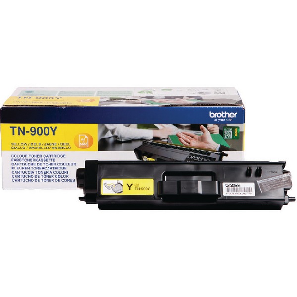 Brother TN-900 Yellow Super High Yield Laser Toner Cartridge TN900Y
