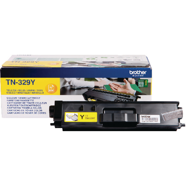 Brother TN-329Y Yellow Super High Yield Laser Toner Cartridge TN329Y