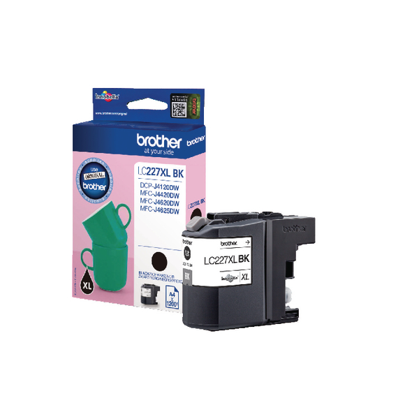 Brother LC227XLBK High Yield Black Inkjet Cartridge LC-227XLBK