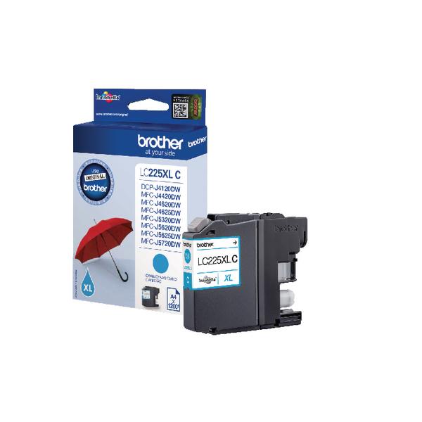 Brother LC225XLC Cyan High Yield Inkjet Cartridge LC-225XLC