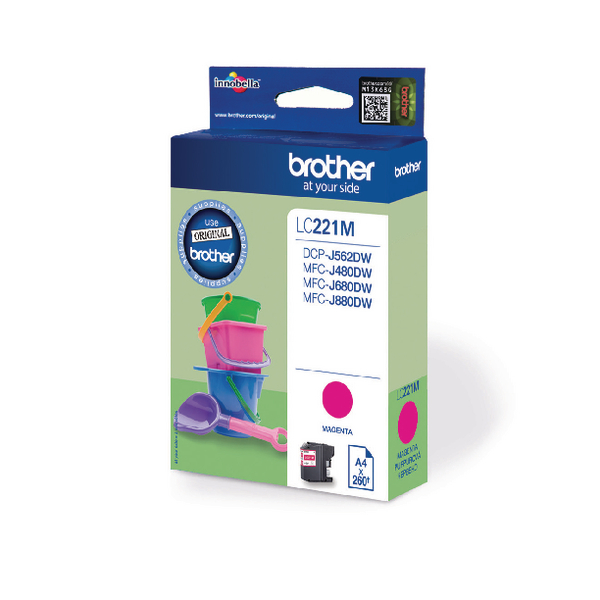 Brother Standard Yield Magenta Ink Cartridge LC221M