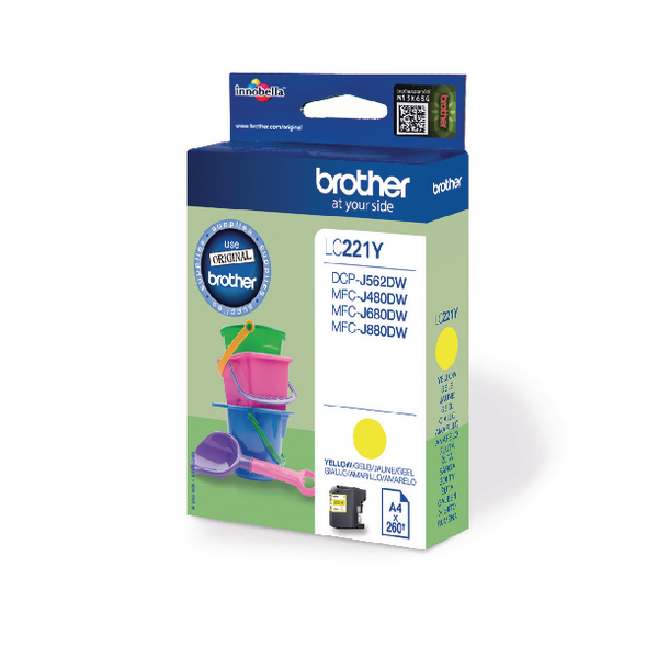 Brother Yellow LC221Y Ink Cartridge