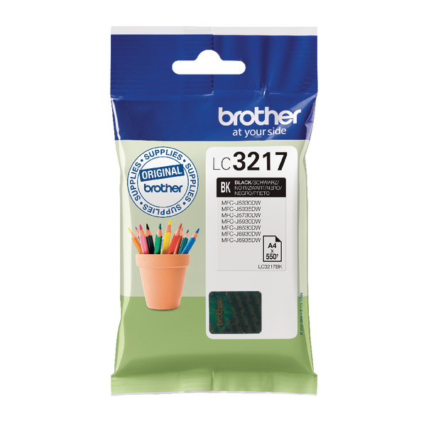 Brother Black Inkjet Cartridge LC3217BK