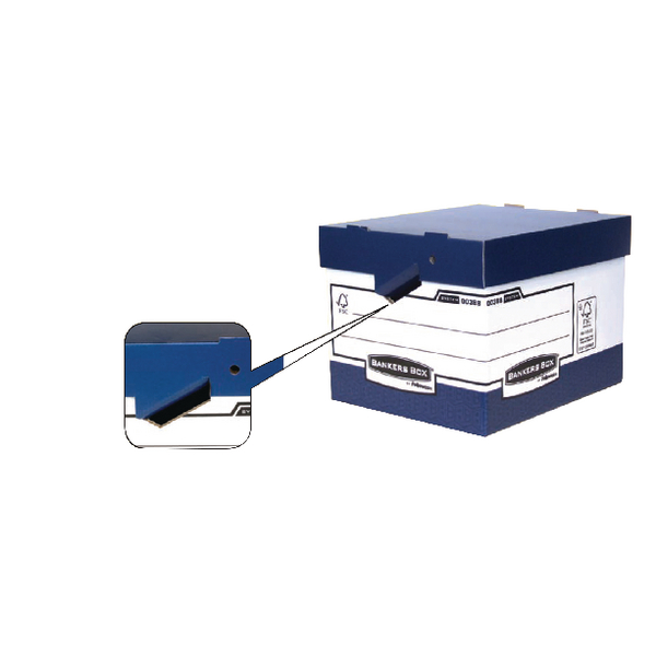 Fellowes Bankers Box Heavy Duty Grey and White Ergo Box (Pack of 10) 0089901