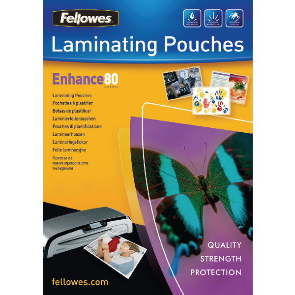 Fellowes Laminating Pouch A3 80 Micron (100 Pack) 5306207