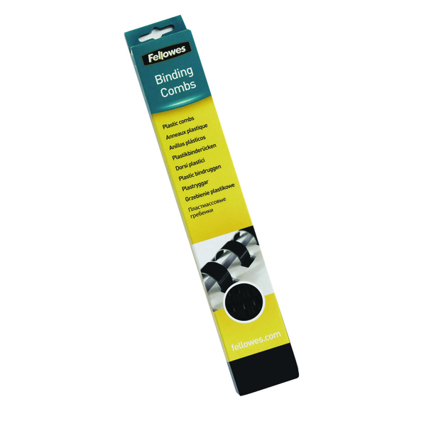Fellowes Binding Comb 28mm Black Pack of 50 53489