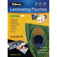 Fellowes Laminating Pouch A4 Glossy 200micron Pack of 100 Impress 5351101