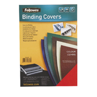Fellowes FSC Delta Leather Board Cover A4 Dark Green Pack of 100 5371503