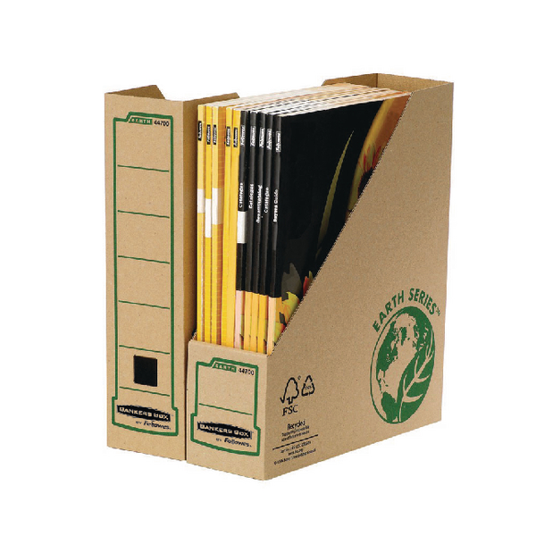 Bankers Box Earth Series Brown Magazine File (Pack of 20) 4470001