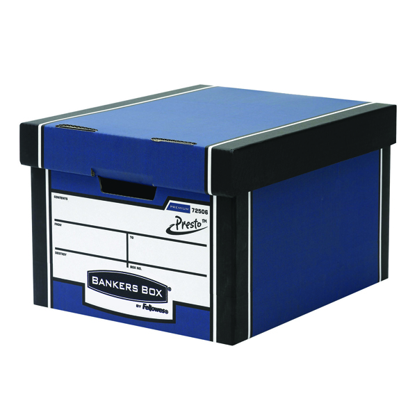 Fellowes Bankers Box Blue Premium Storage Box (10 Pack) 7250601