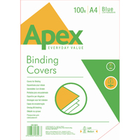 Fellowes Apex Blue Leatherboard Covers A4 (100 Pack) 6501101