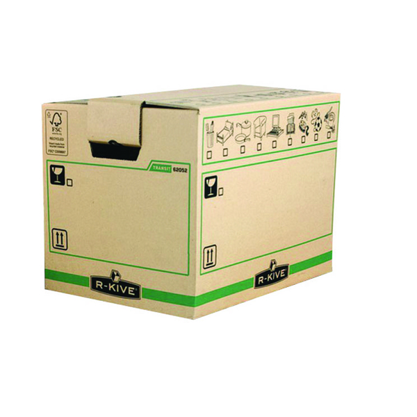 Fellowes Bankers Box Moving Box X-Large Brown/Green 6205401 (Pack of 5)