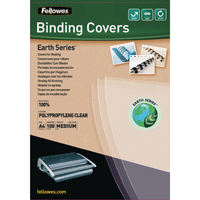 Fellowes Earth Series A4 Polypropylene Binding Cover 200micron Pack of 100 5361401