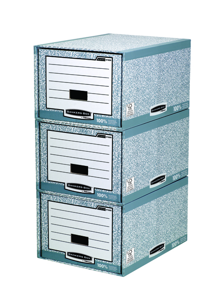 Fellowes Bankers Box System Storage Drawer Grey and White (Pack of 5) 01820