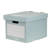 Image for Bankers Box Storage Box Green/White Pk4