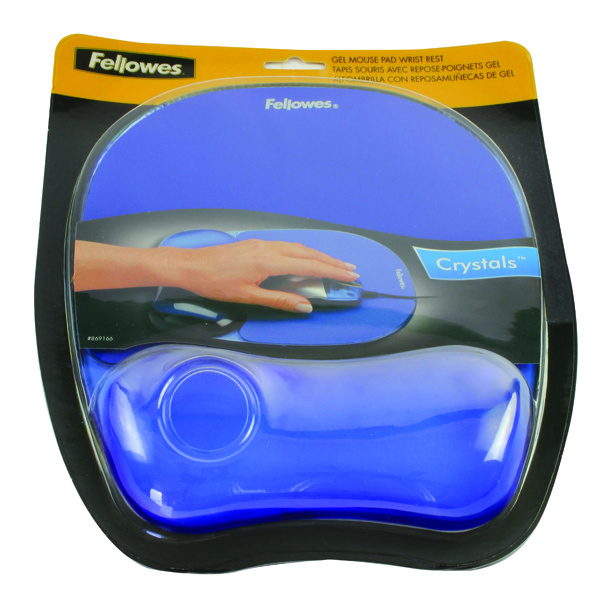 Fellowes Crystal Gel Blue Mouse Pad 9114106