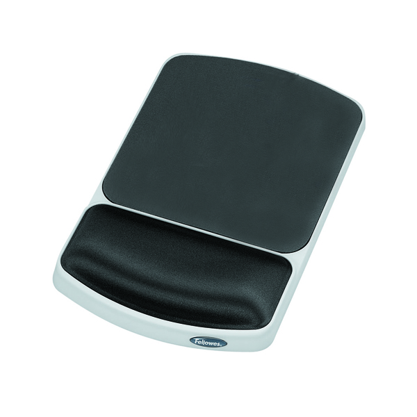 Fellowes Premium Gel Graphite Mouse Pad and Wrist Support 91741