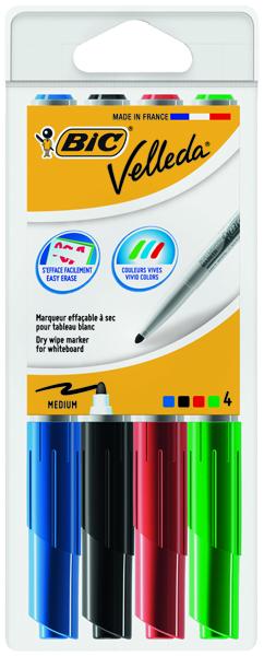 Bic Velleda 1741 Bullet Tip Assorted Whiteboard Marker (4 Pack) 1199001744