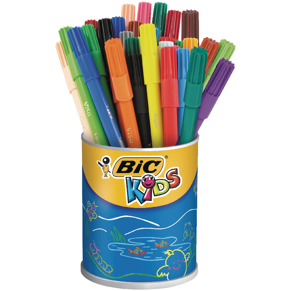 Bic Kids Visa Colouring Felt Tip Pens Fine Assorted (36 Pack) 829012