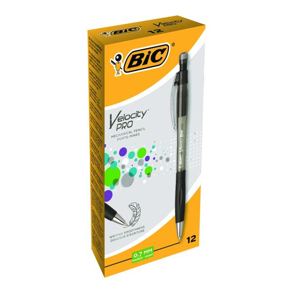 Bic Black Atlantis Mechanical Pencil 0.7mm (Pack of 12) 8206462