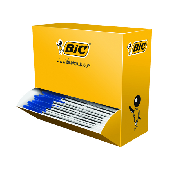 Bic Cristal Medium Ballpoint Blue Pen (Pack of 100) 896039