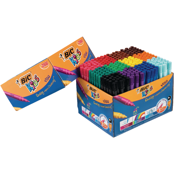 Bic Kids Assorted Visa Felt Pens (Pack of 288) 897099