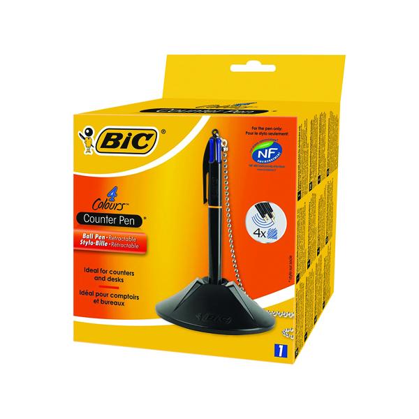 Bic Blue 4 Colour Ballpoint Desk Pen 918515