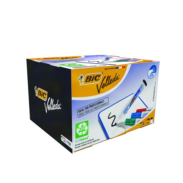 Bic Velleda 1701 Bullet Tip Assorted Whiteboard Marker (Pack of 48) 927259