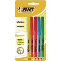 Bic Brite Liner Highlighter Assorted (Pack of 5) Buy 1 Get 1 Free