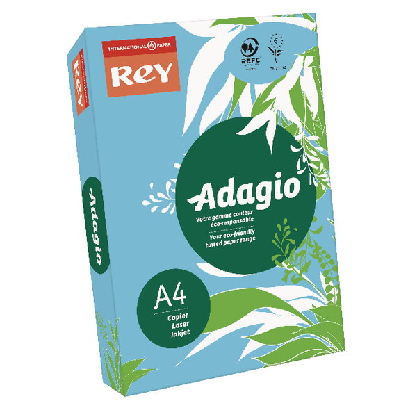 Adagio Bright Blue A4 Coloured Card 160gsm (250 Pack) 201.1211