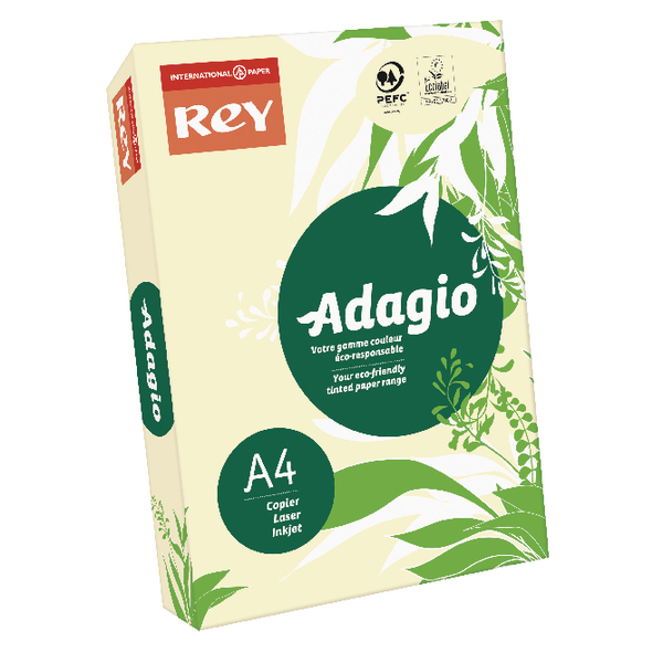 Adagio Pastel Ivory A4 Coloured 160gsm Card Pack 201.1204